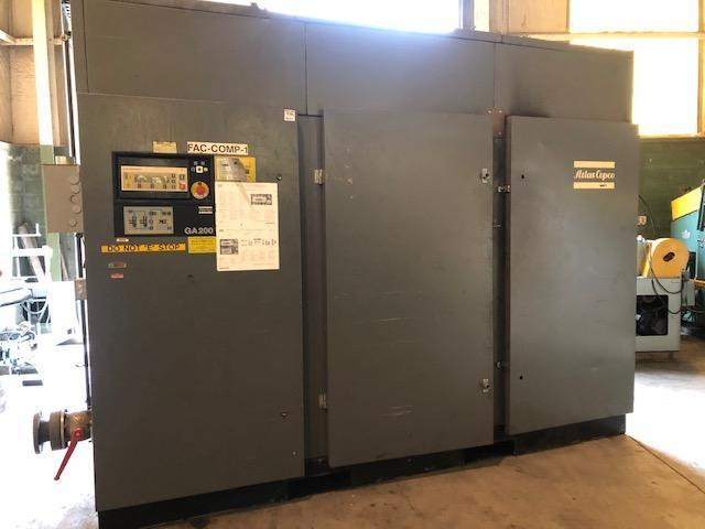 250 HP Atlas Copco Air Compressor