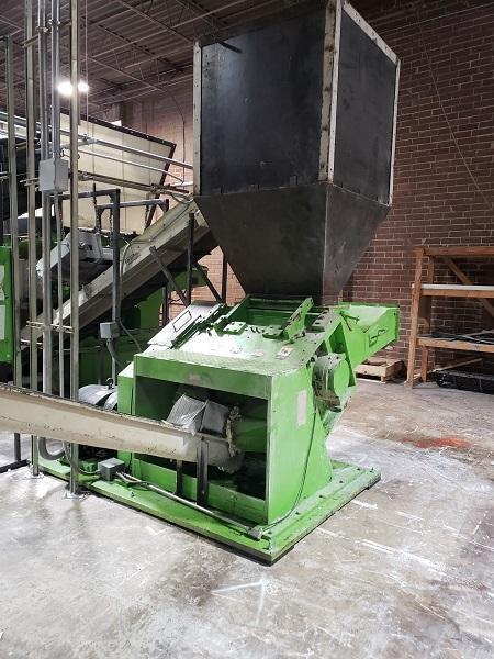 Vecoplan Used Shredder 853157 RG 52 System with Cumberland 37B 3KN 100hp Granulator
