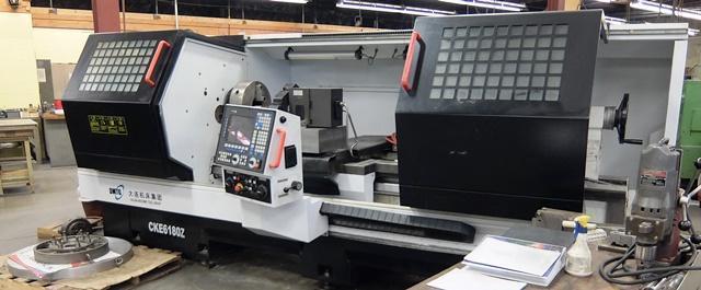 "31"" x 79"" DMTG Model CKE6180Z Flat Bed CNC Lathe"