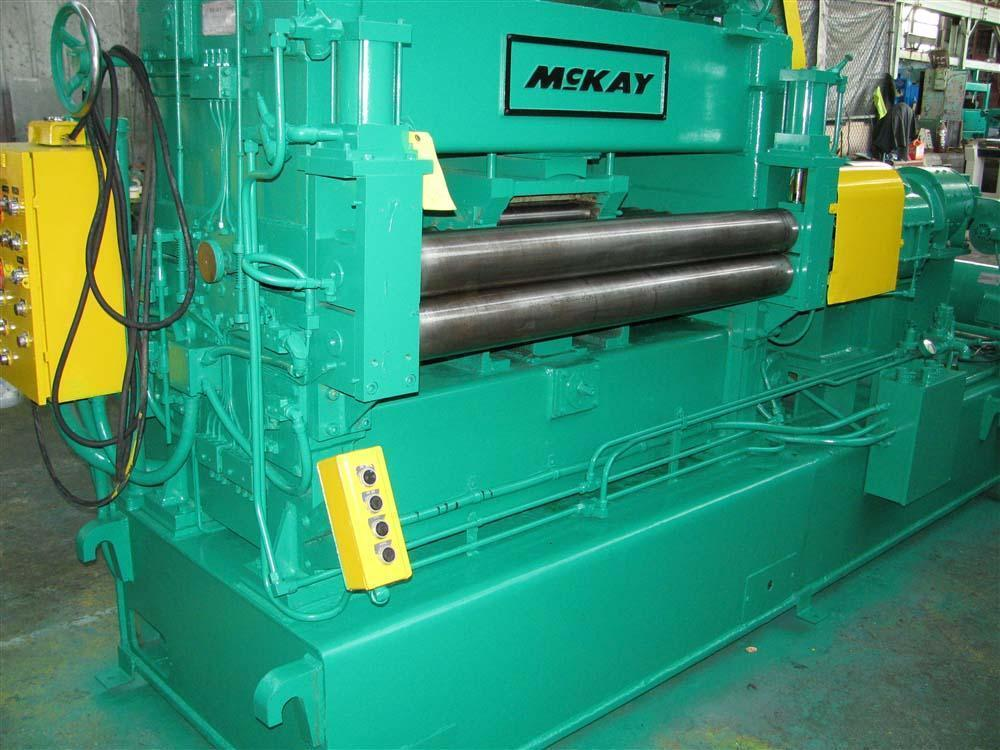 54' X 14 GA MCKAY 5 ROLL BACKED UP COIL STRAIGHTENER: STOCK #53396