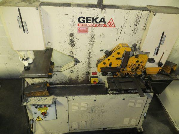 55 TON, GEKA HYDRAULIC IRONWORKER, MODEL 50SD