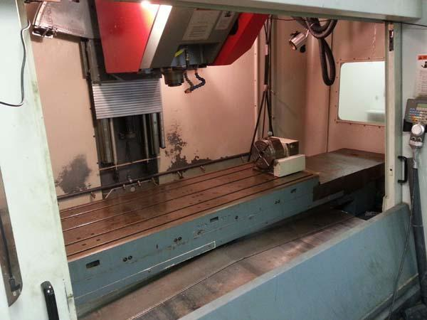 "CINCINNATI V5-2000 5-AXIS, Siemens 2100 CNC, Control, X= 80"", Y=30"",Z=30"", A & B = 80 Degrees (+/- 40), 15,000 RPM, New 1999."