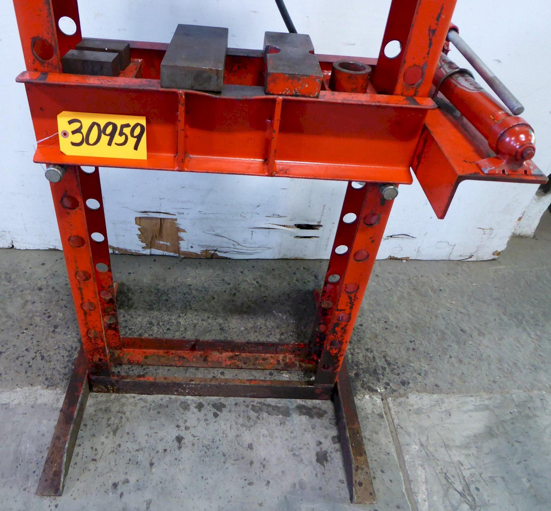 "25 Ton Dayton H-Frame Hydraulic Press 3Z916A, 22"" Between Uprights"
