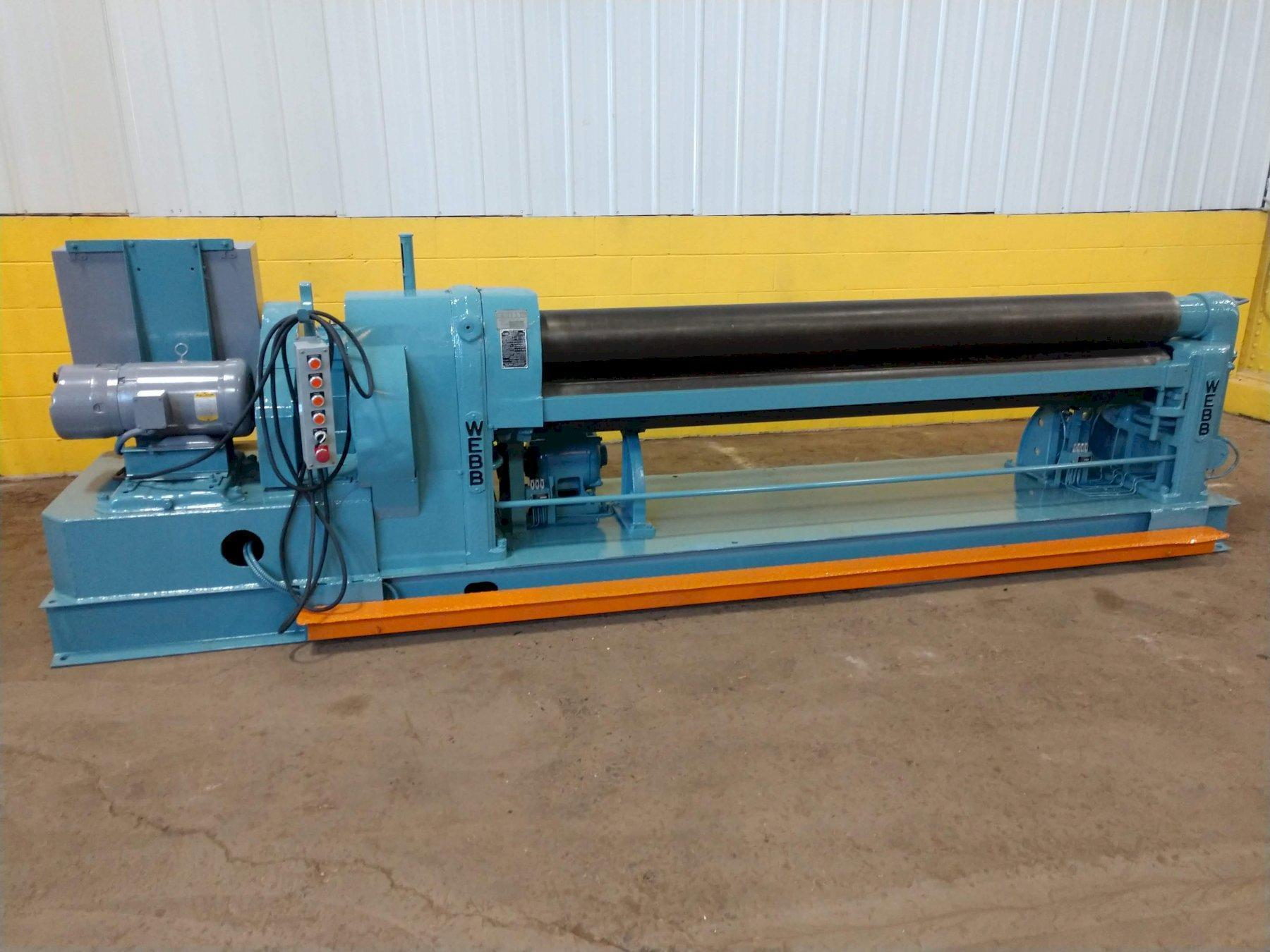 "8' X 5/16"" WEBB MODEL R3L INITIAL PINCH PLATE BENDING ROLL"