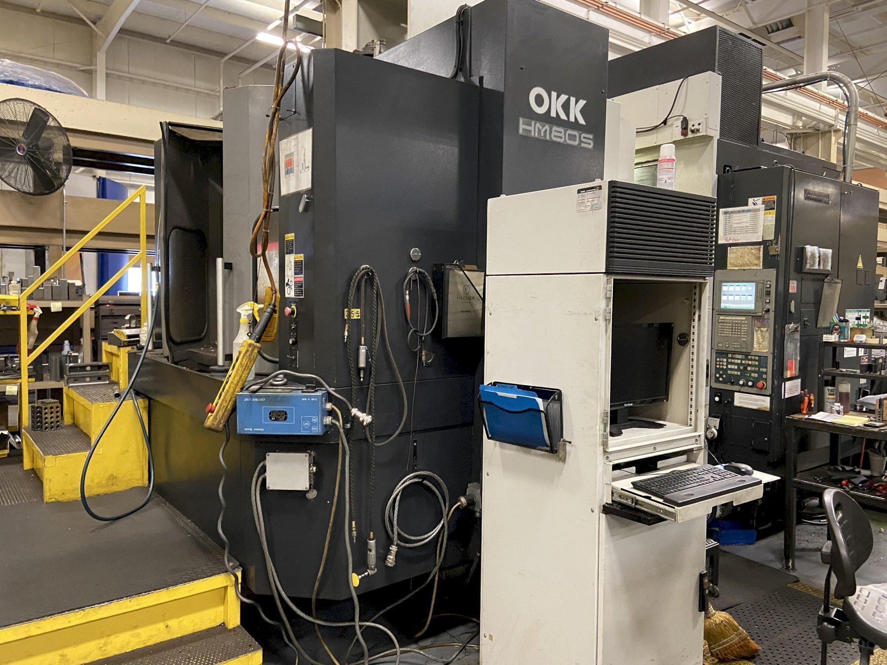 OKK HM80S CNC Horizontal Machining Center, Meldas 600, 31.5