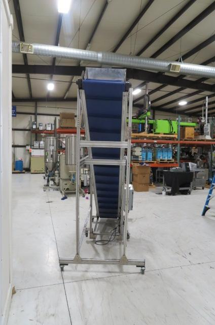 "HFA Used Horizontal to Incline Conveyor, 110V, 16"" wide"