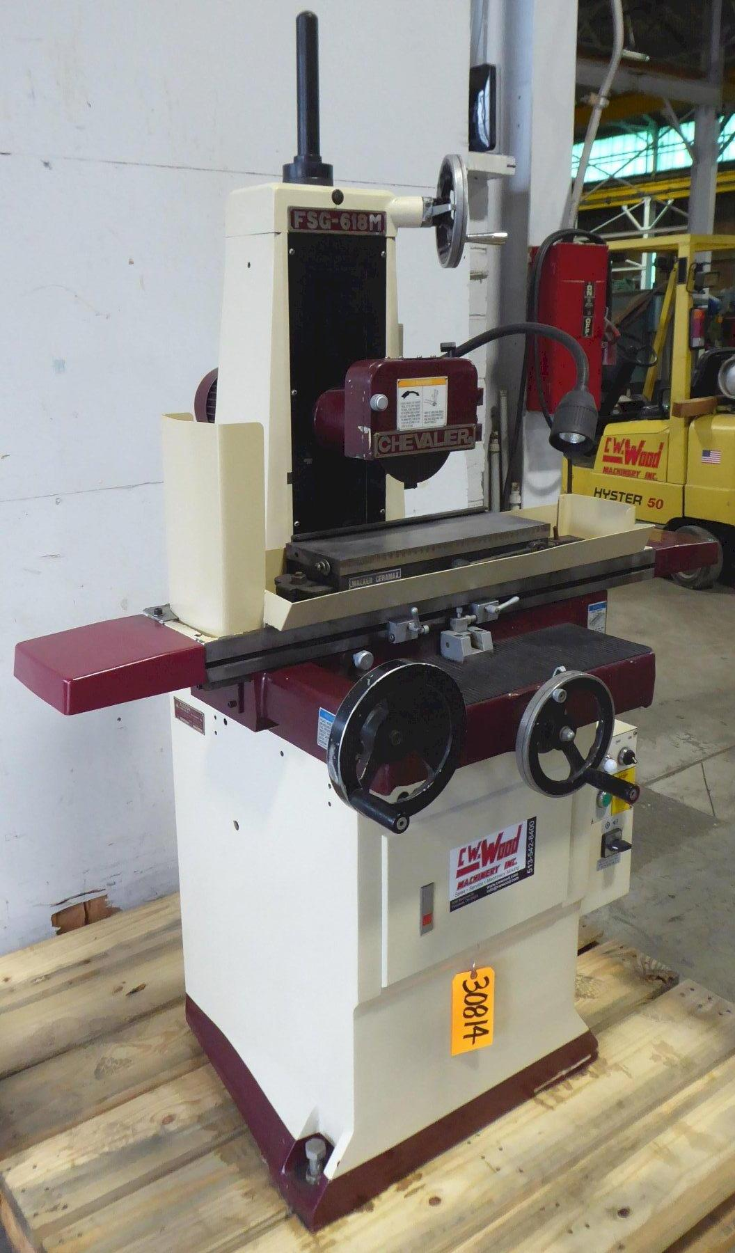 """6"""" x 18"""" CHEVALIER Surface Grinder FSG-618M, Hand, Perm. Chuck, 2 HP Spindle, Clean"""