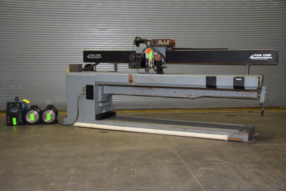USED FOUR CORP FIXED HEIGHT SEAM WELDER, Model FH100-120, Stock No. 9945