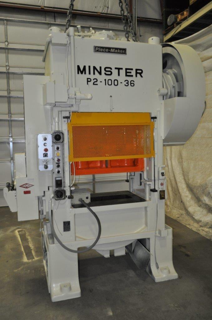 MINSTER 100 TON SSDC PRESS, STOCK# 13617J