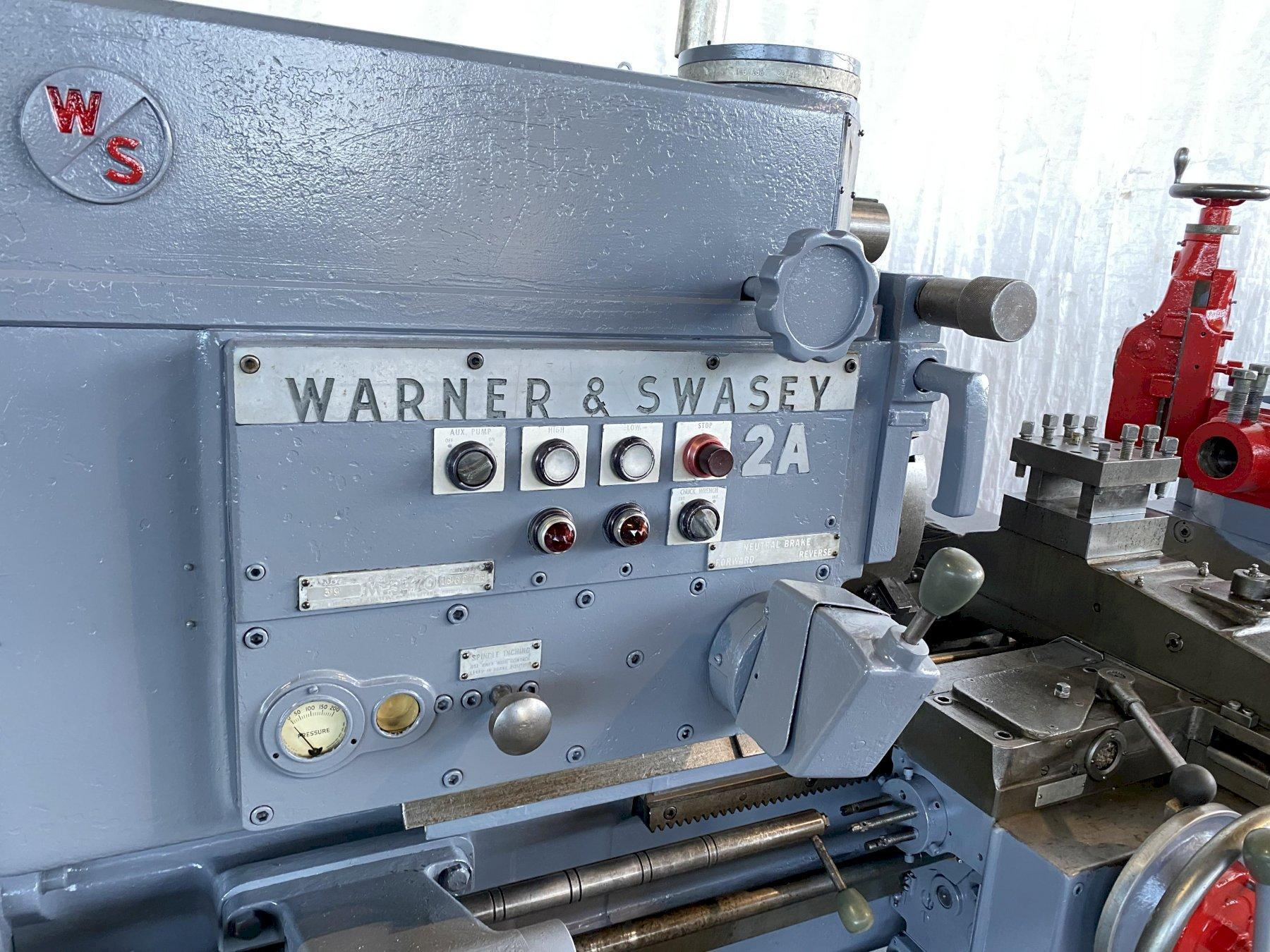 WARNER & SWASEY 2A SADDLE TYPE TURRET LATHE. STOCK # 0848220