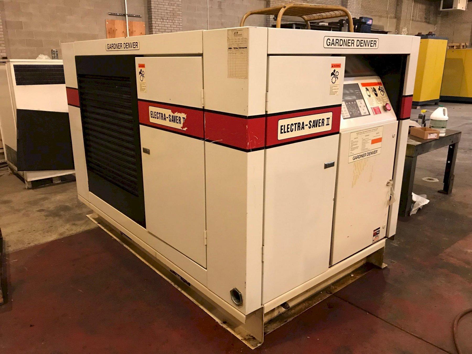 75 HP GARDNER DENVER MODEL EBM99F29 ROTARY SCREW AIR COMPRESSOR