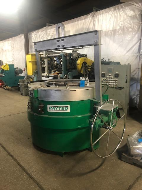 RAYTEQ MODEL DT500 500# PER HOUR MELT RATE ELECTRIC LADLE WITH POWER SUPPLY S/N 481, 1500# CAPACITY