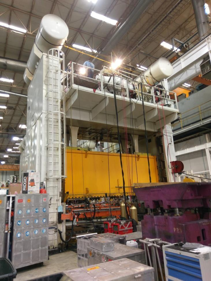 1600 ton Blow SE4-1600-216-96 Straight Side Press, New 2000