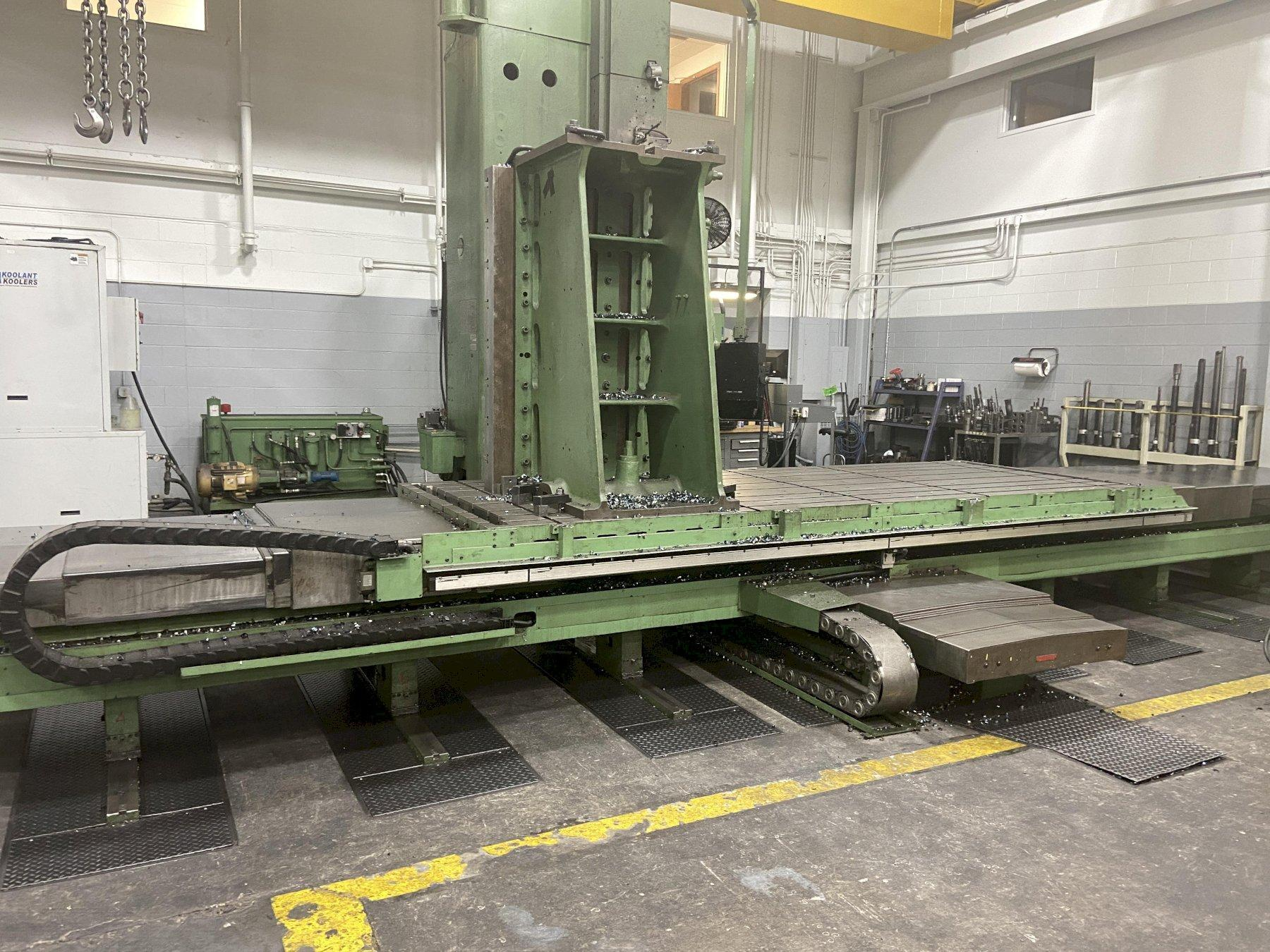 "5"" Giddings & Lewis CNC Table-Type Boring Mill, Fidia C-20 Control, 148""/86""/33"" Travels, 60K Lb Cap, CT50, New Screws/Bearings ('15), New Chiller ('15), 1991"