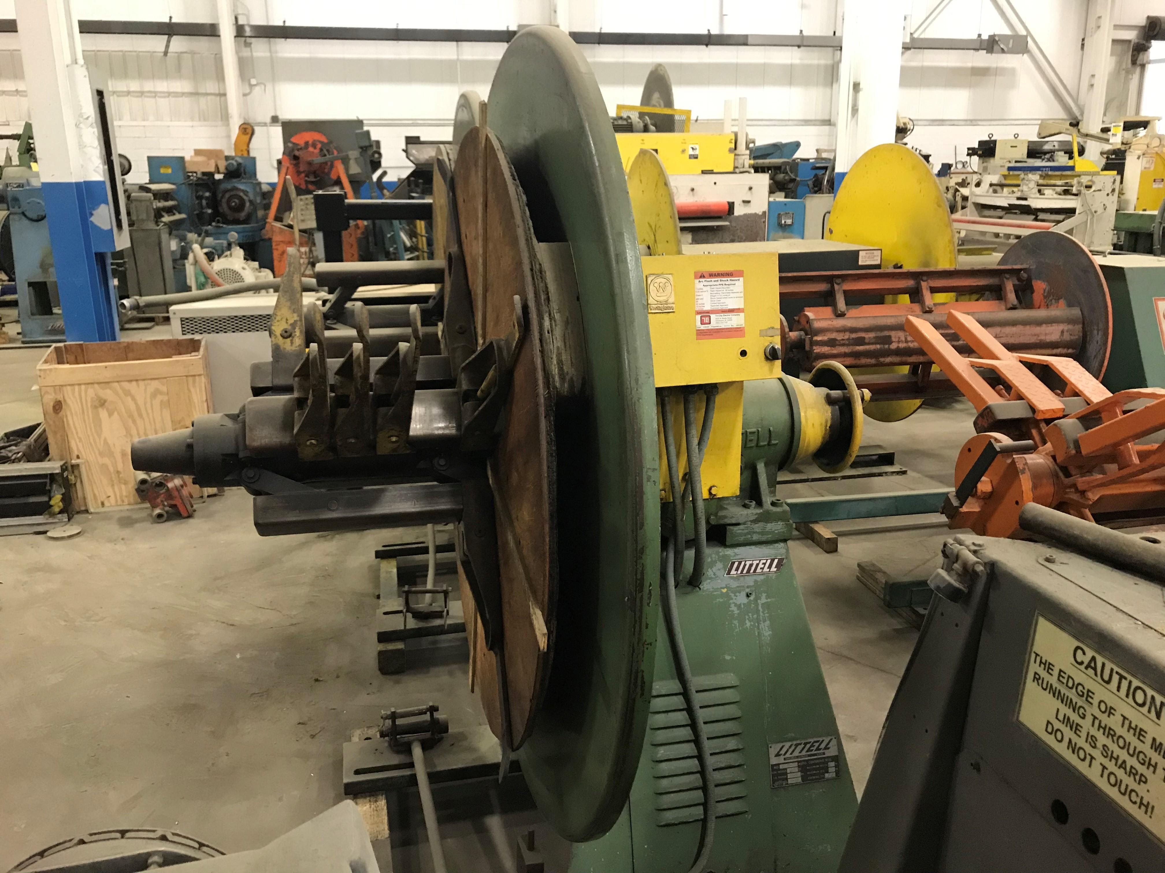(S) Littell Motorized Coil Reel Uncoiler 4,000 Lbs. x 18