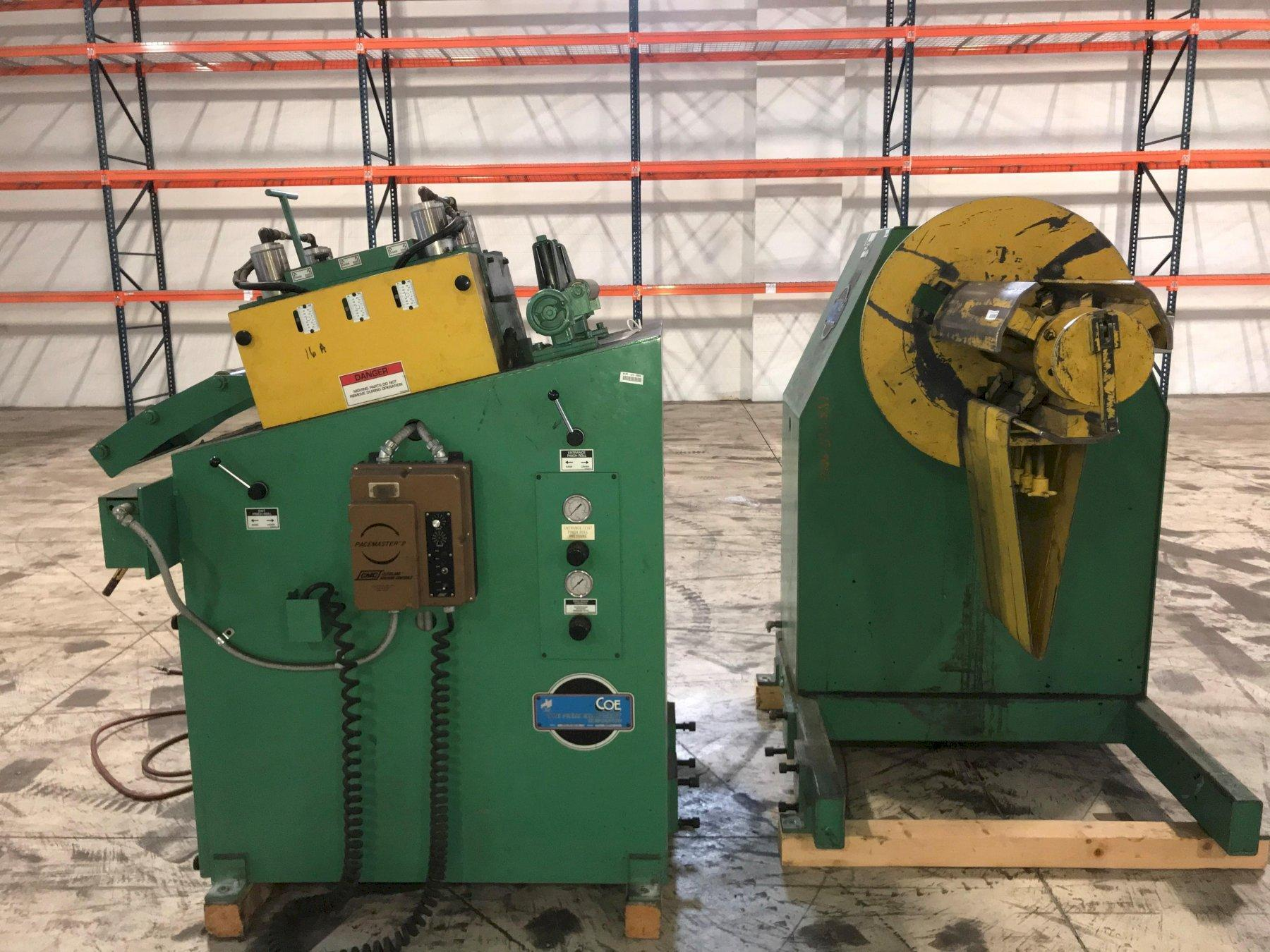 Coe Press Conventional Coil Feed Line 8,000 Lb x 12