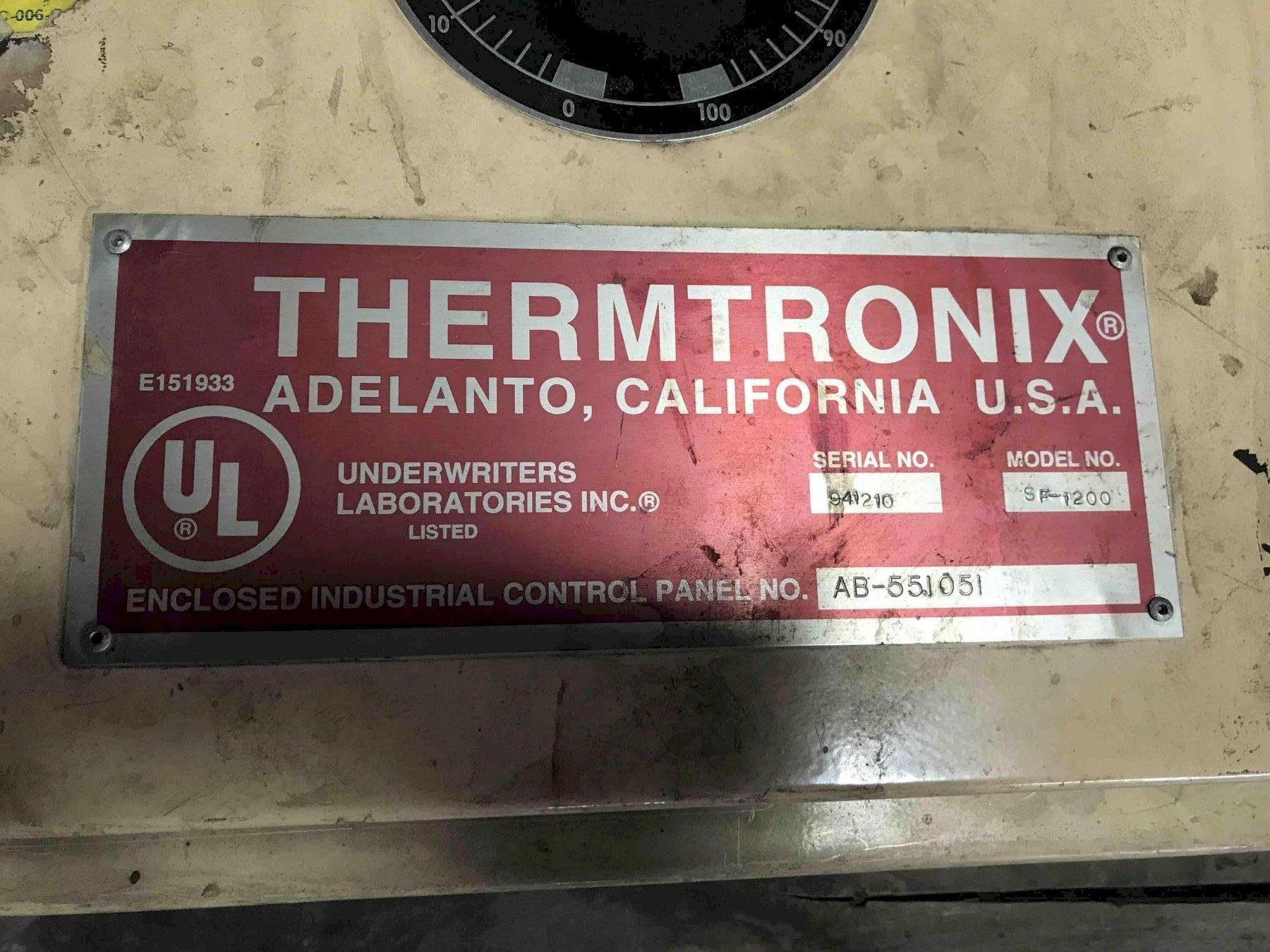 THERMTRONIX SF-1200 ELECTRIC RESISTANCE STATIONARY FURNACES WITH CONTROLS