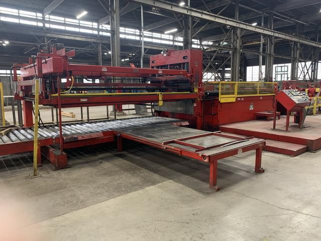 """72"""" x .250"""" x 50,000# Red Bud/ Herr Voss Cut-to-Length Line Year 2000"""