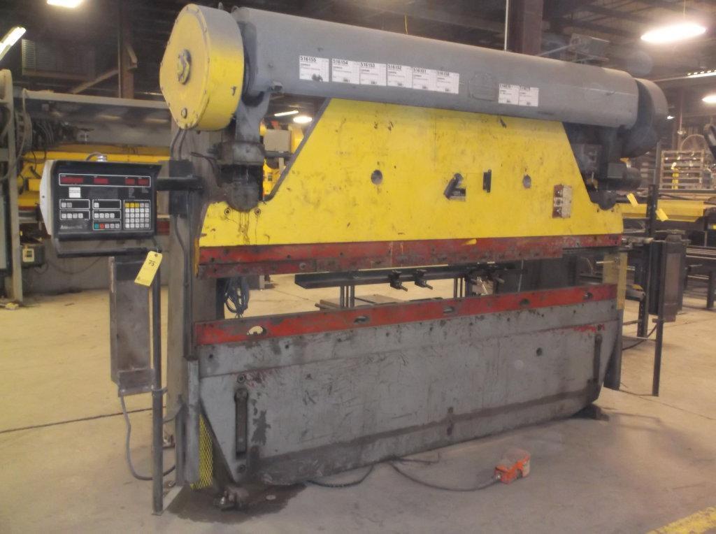 90 TON X 10' MERCURY PRESS BRAKE WITH CNC HURCO BACKGAGUE: STOCK #65598