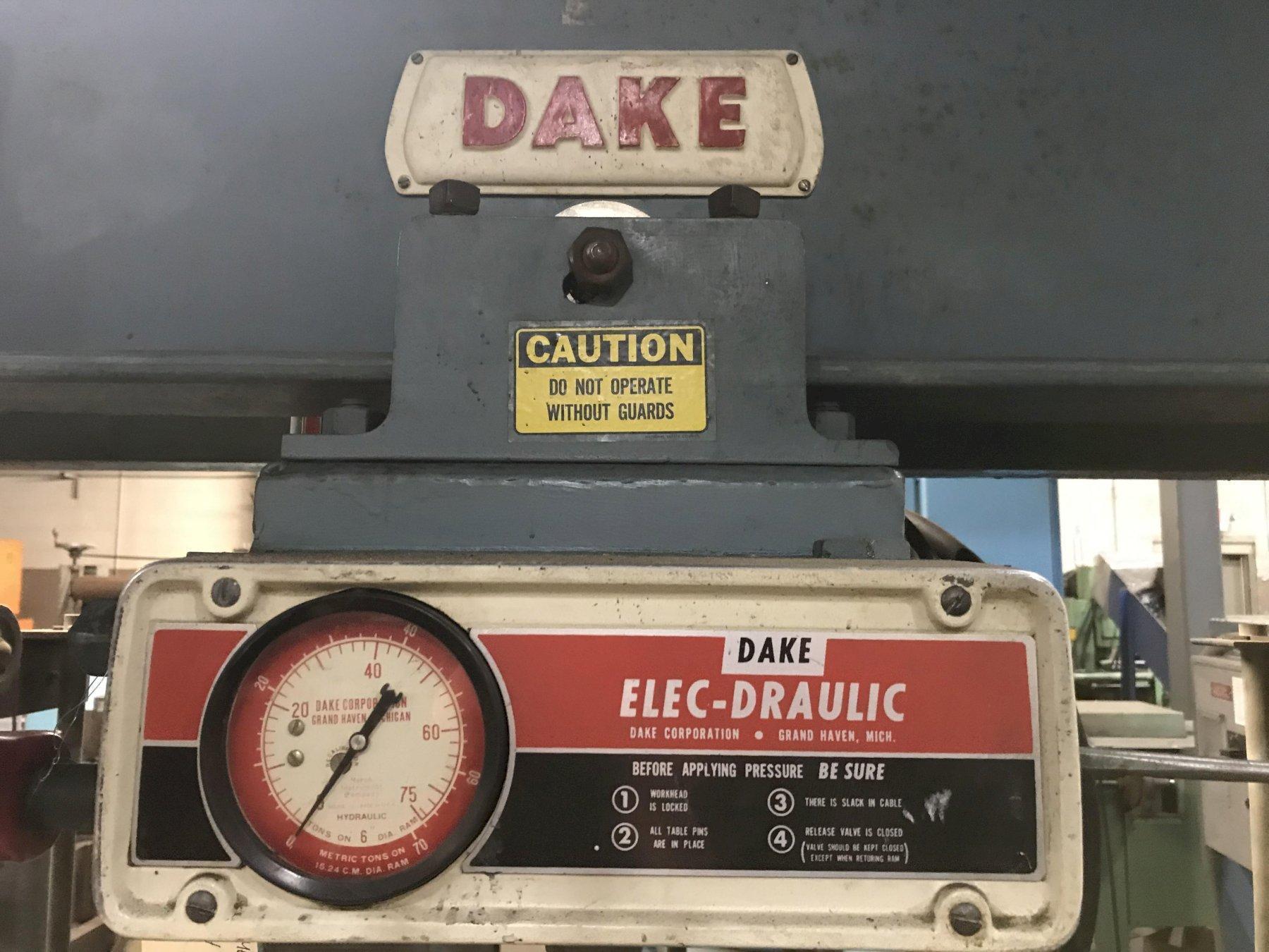 USED DAKE ELEC-DRAULIC H-FRAME PRESS, Model 5-264, 75 ton, Stock No. 10383