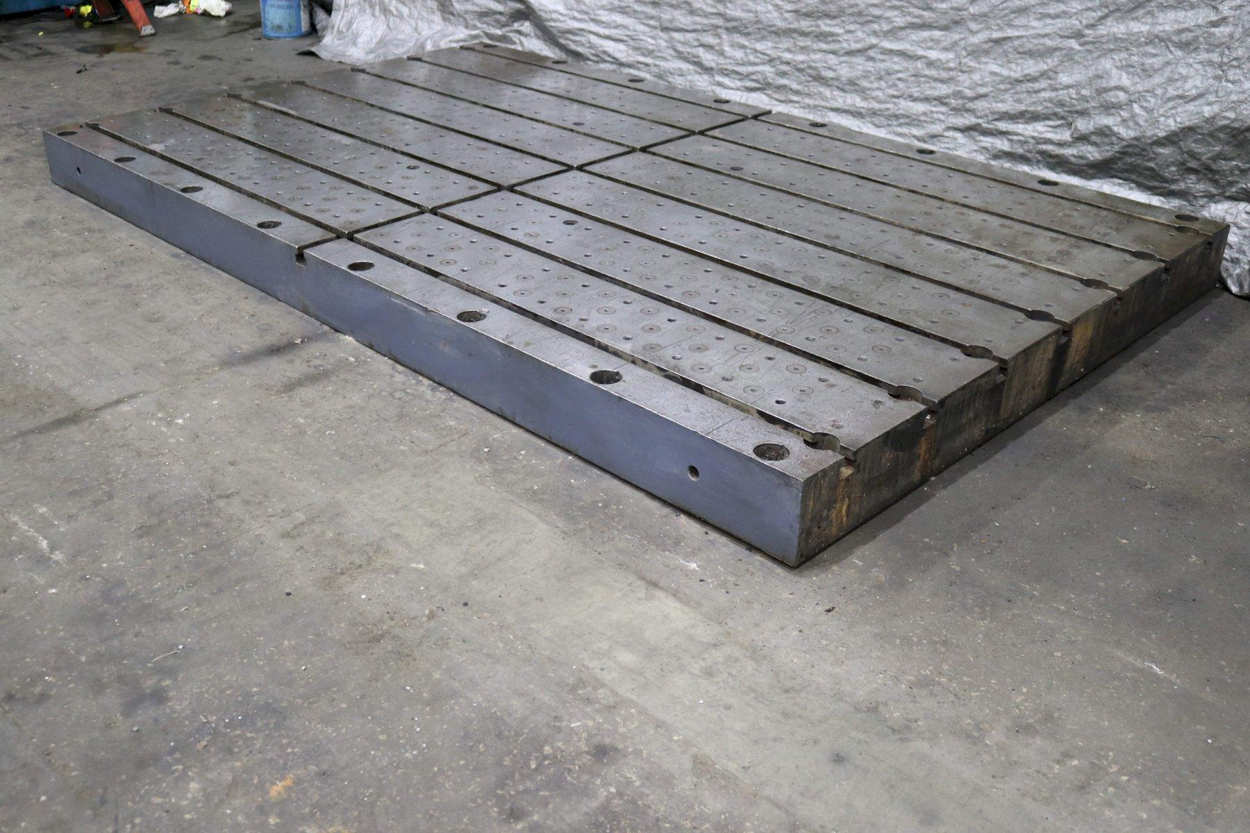 139' X 84' X 8' T-SLOTTED BOLSTER PLATE: STOCK #72892