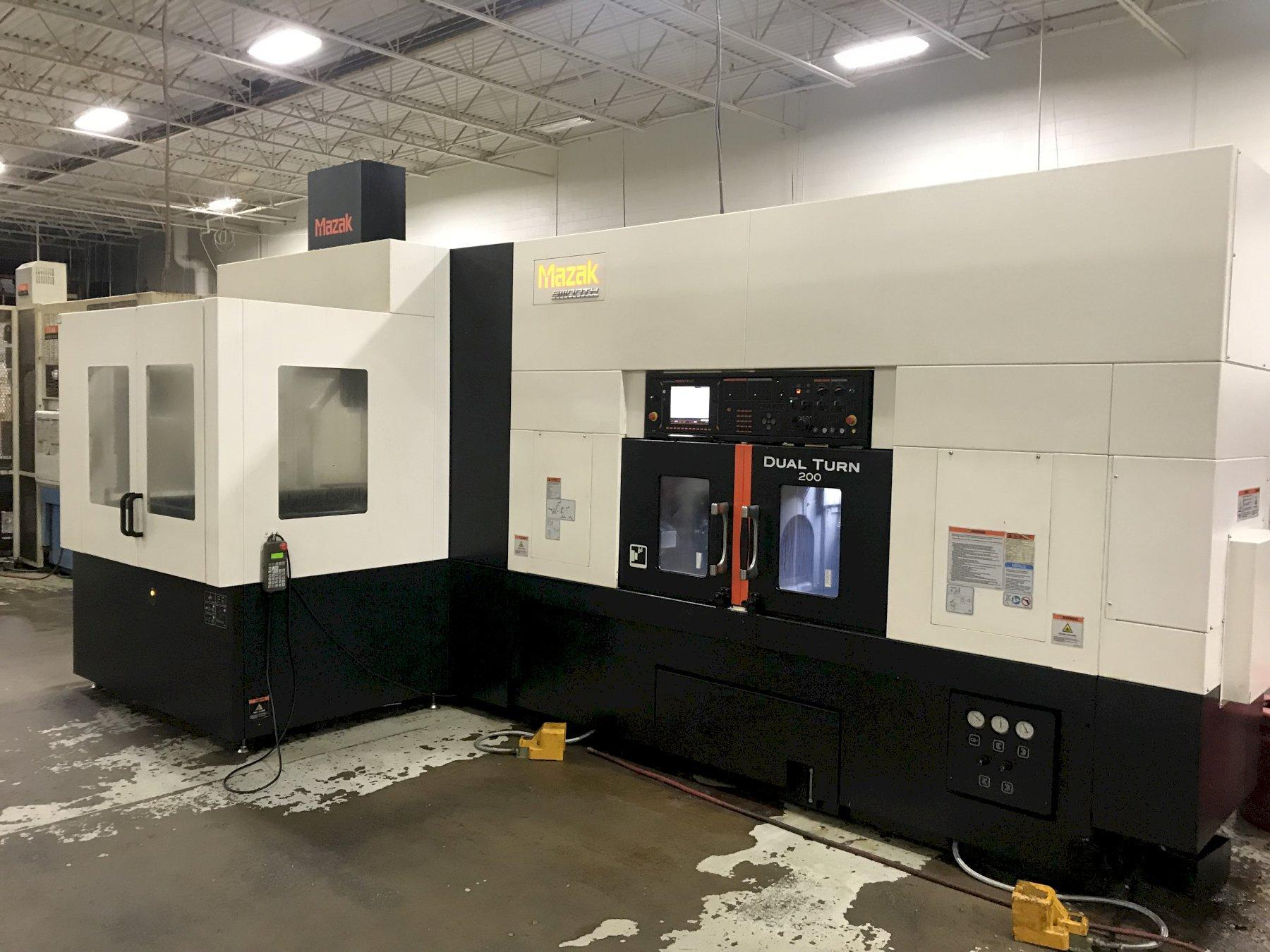Mazak Dual Turn 200 CNC Lathe, Mazatrol Smooth C, 12.6