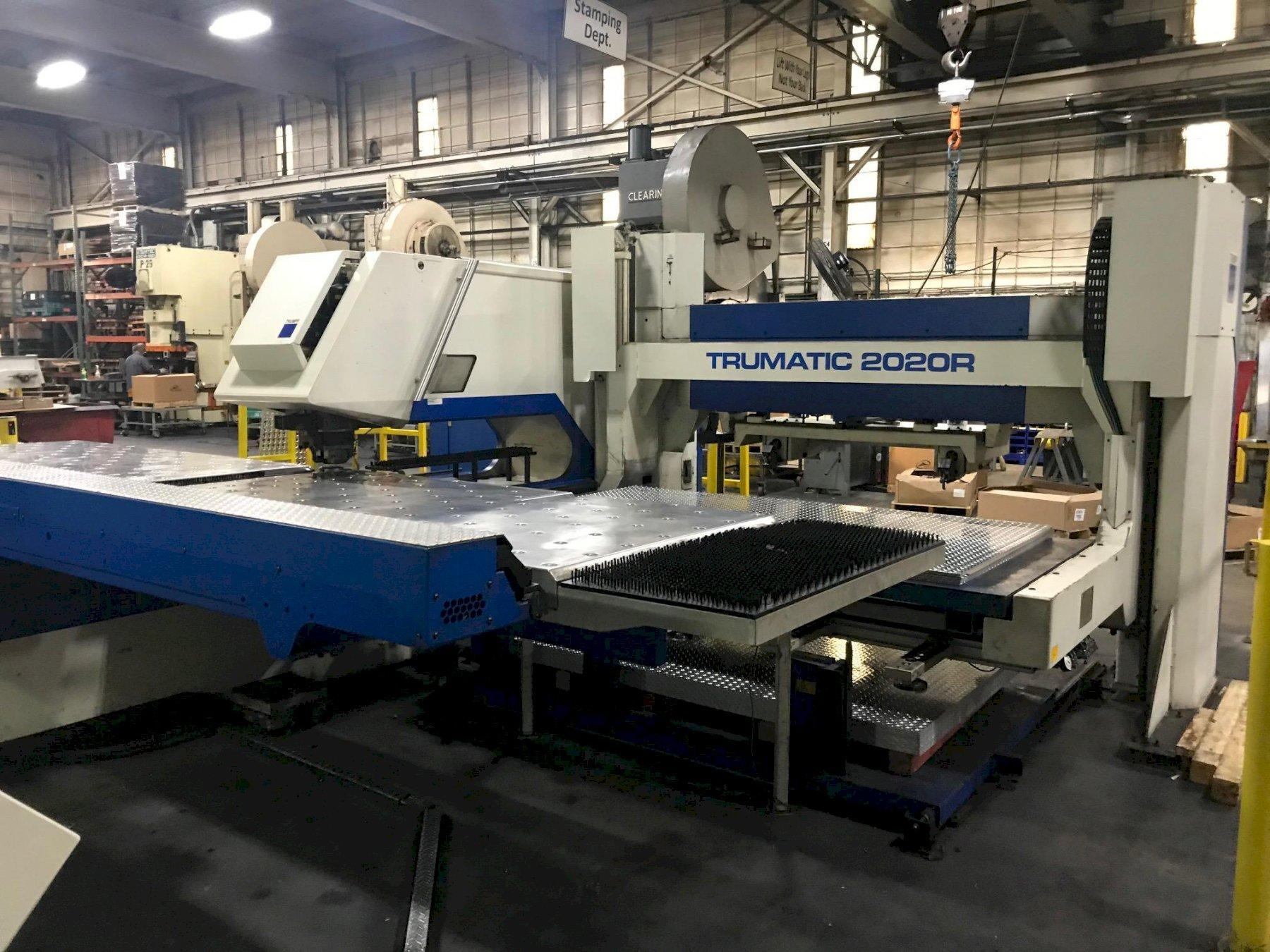 USED TRUMPF CNC TURRET PUNCH MODEL TC 2020R WITH SHEET MASTER COMPACT LOAD UNLOAD SYSTEM, Stock# 10725, Year 2005