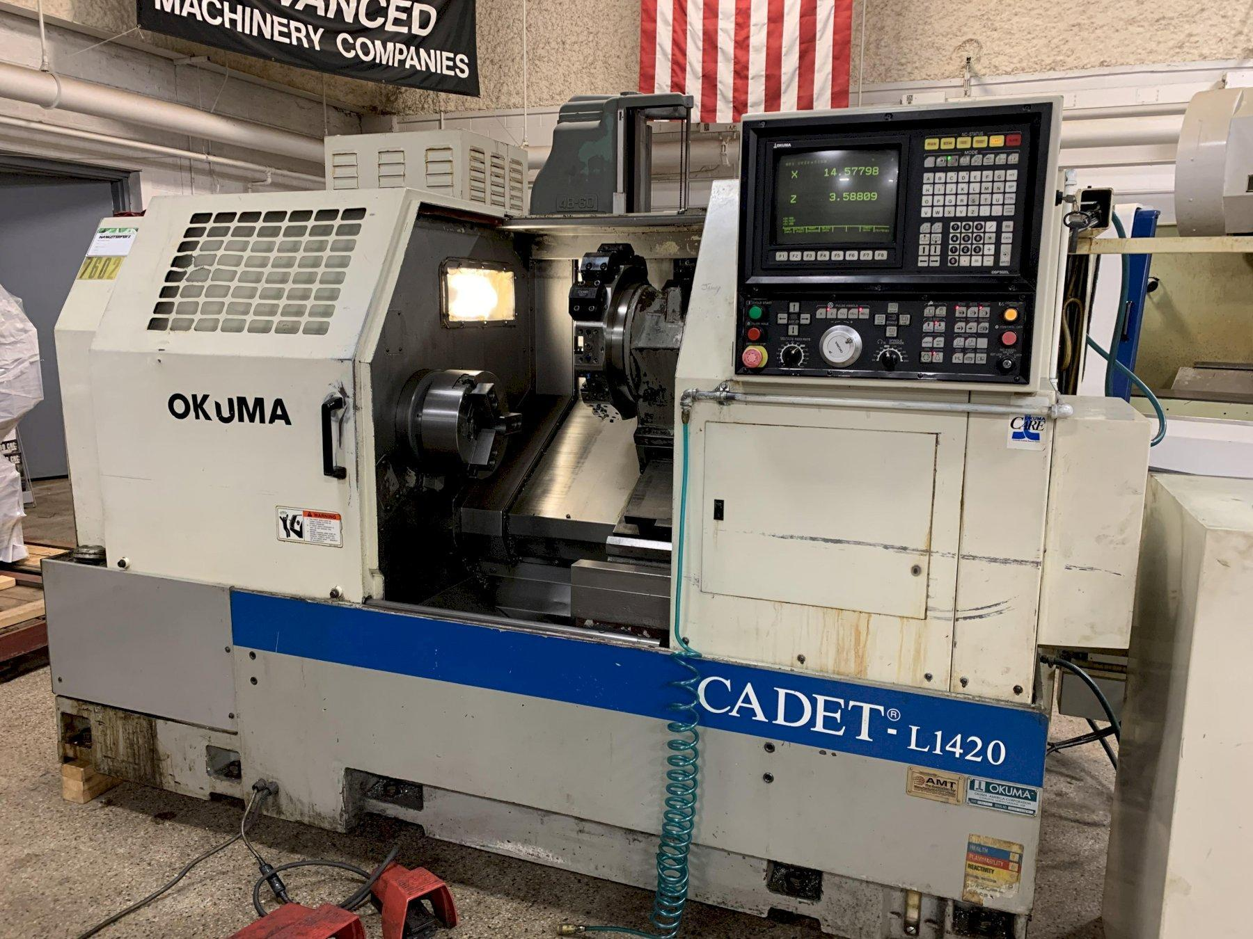 Okuma Cadet L1420 Turning Center, S/N 0178, New approx 1996.