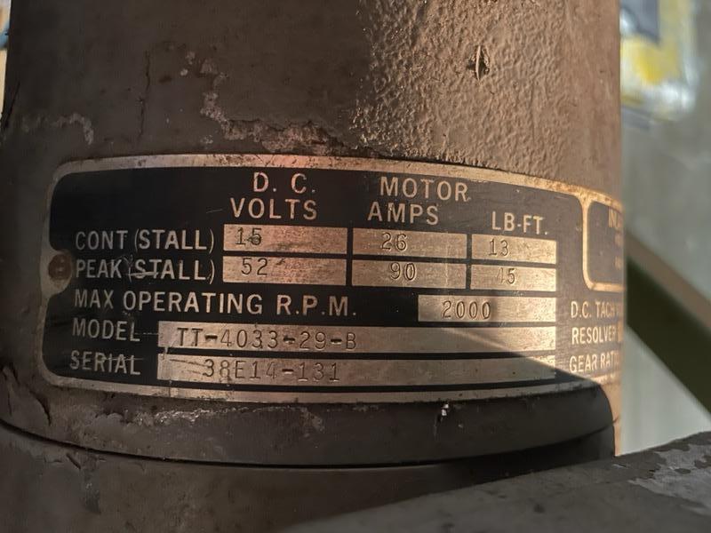 INLAND MOTOR, MODEL TT-4033-29-B