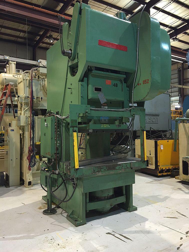Bliss 200 Ton Gap Frame Single End Drive Mechanical Press