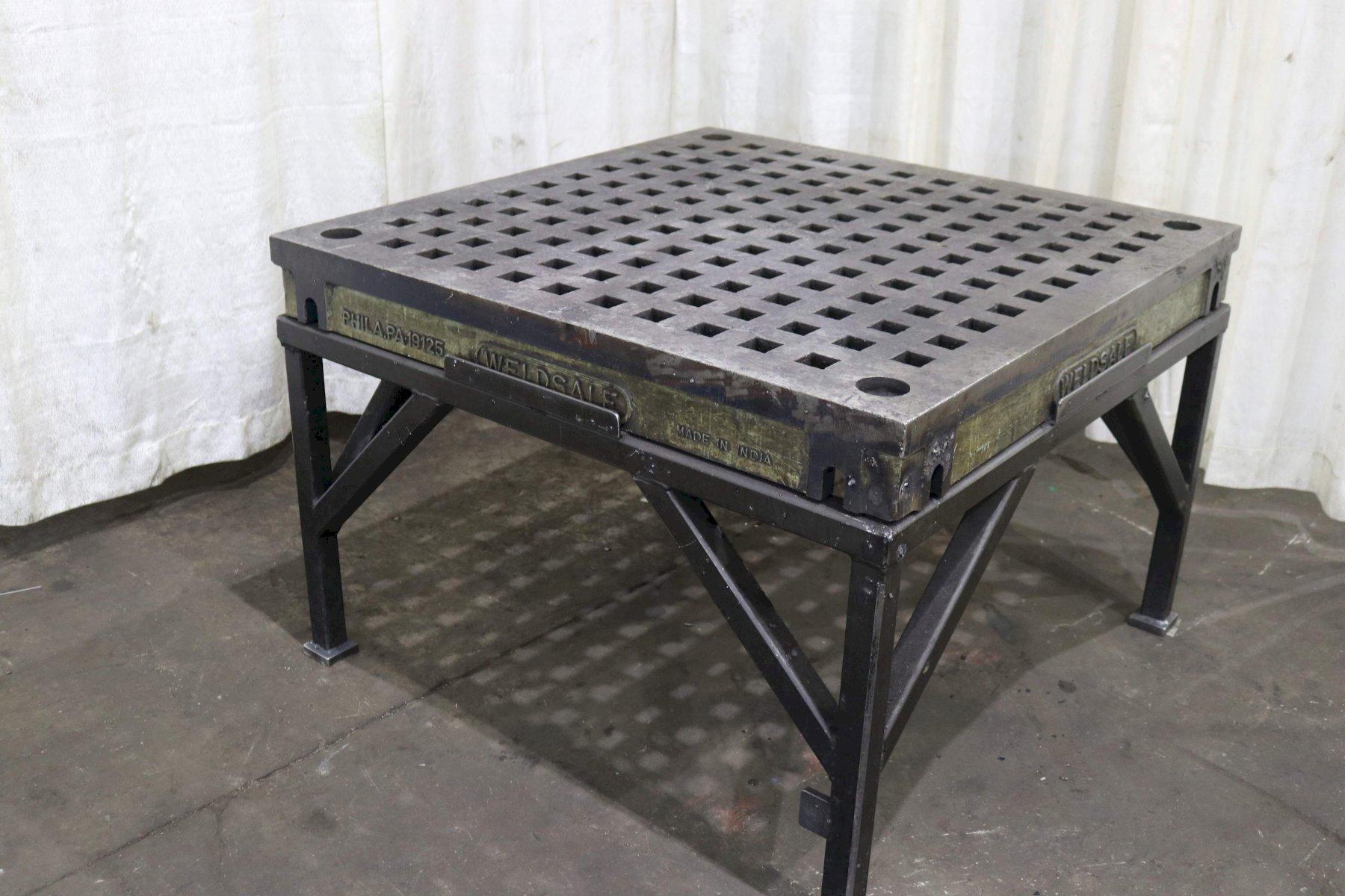 48' X 48' WELD SALES ACORN WELDING TABLE: STOCK #72549