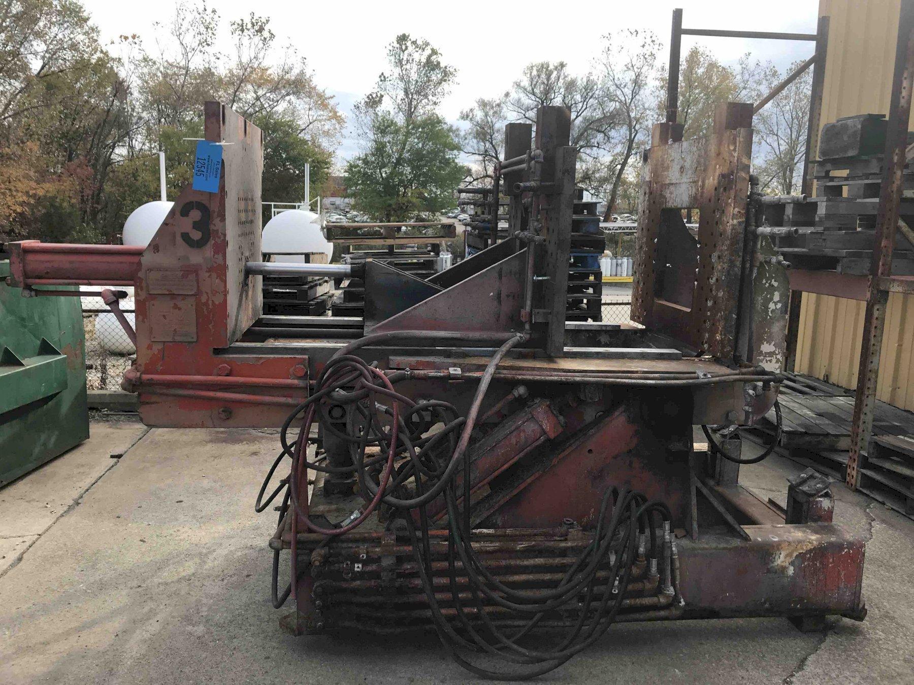 "Hall model hm3 permanent molding machine s/n HM3SW-1112 single cylinder type 28"" x 38"" platen"