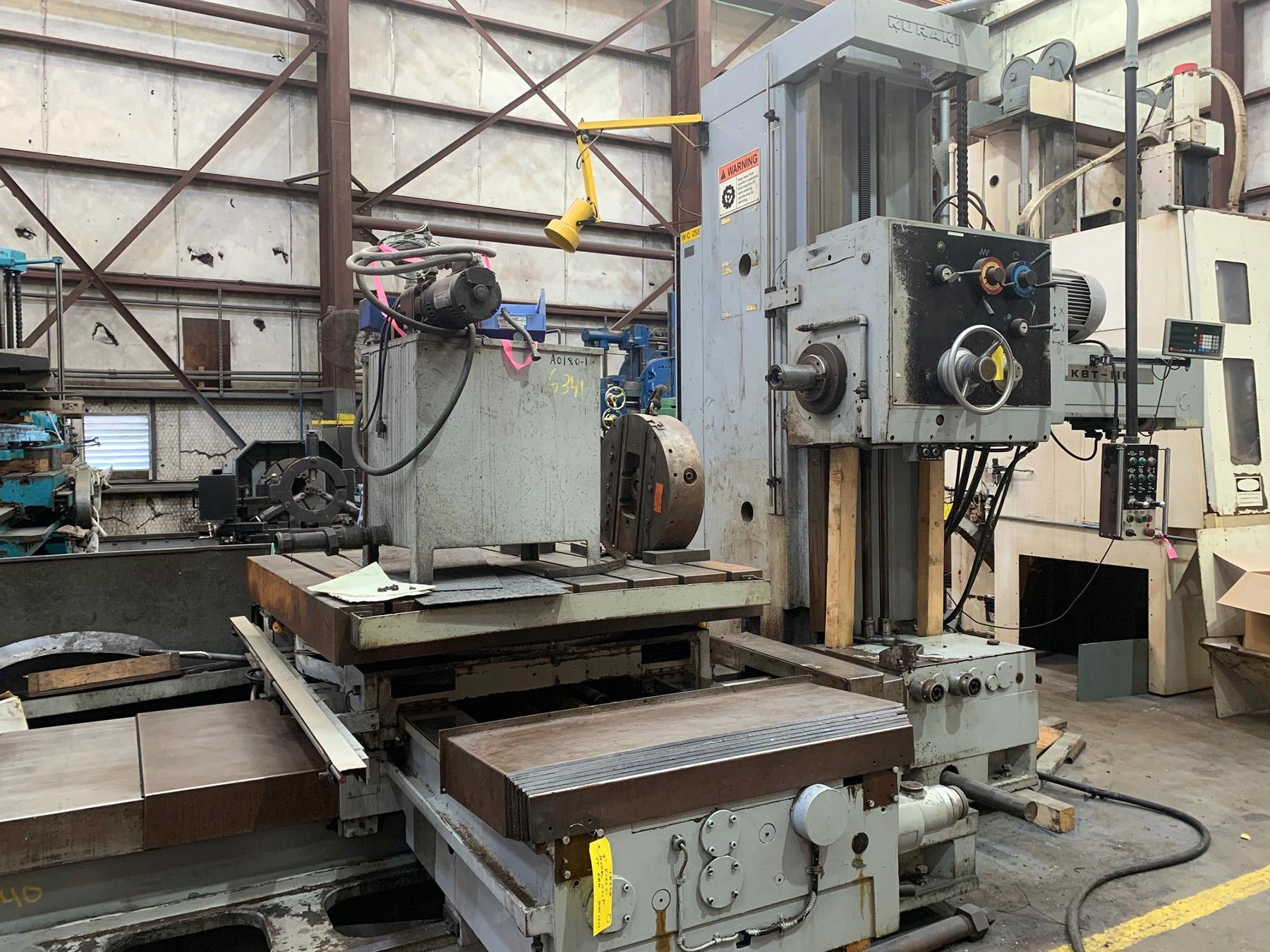 "USED, 4"" KURAKI MODEL 1101P TABLE TYPE HORIZONTAL BORING MILL"