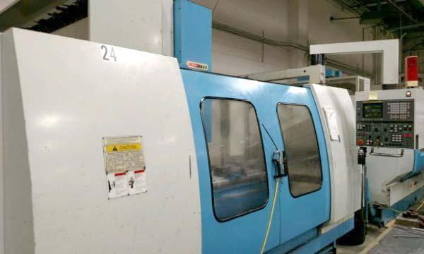 """SUPERMAX MAX-8, Fanuc 18M CNC, 69"""" x 29"""" Table, X=65"""", Y=30"""", Z=30"""", 40 Station Tool Changer, Cat-50 Taper, 20 HP Geared Spindle, New 1997."""