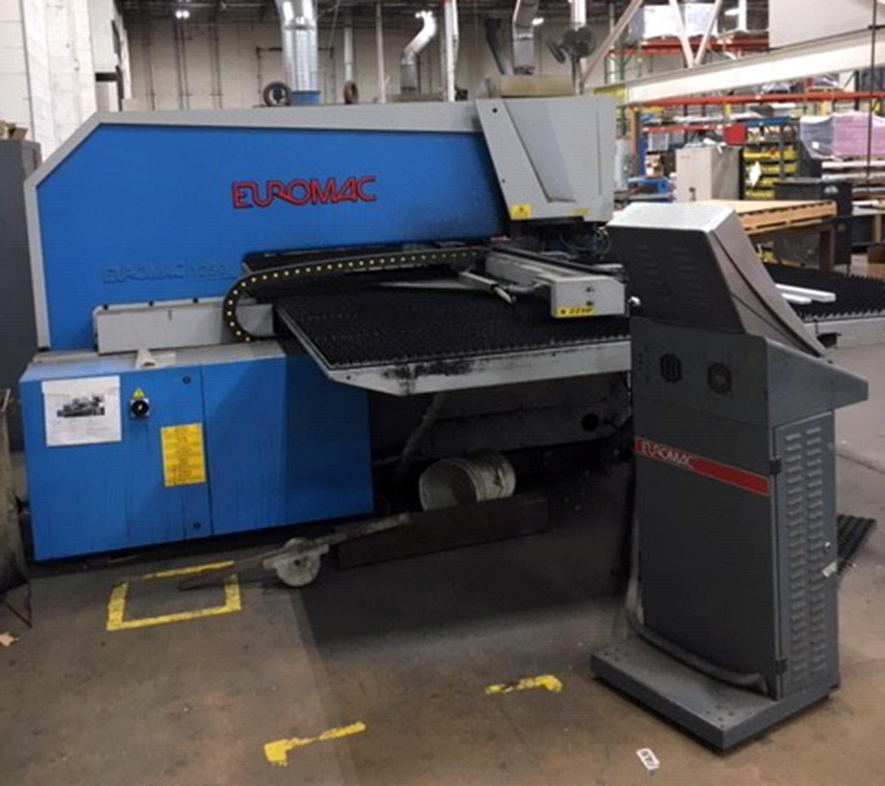 USED, EUROMAC MODEL BX INDEX 1250/30-2250 PUNCH PRESS
