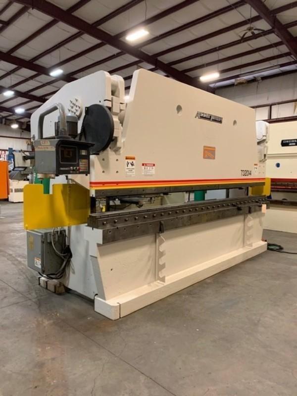 320 TON X 14' ACCURPRESS 732014 CNC HYDRAULIC PRESS BRAKE WITH ETS CONTROL