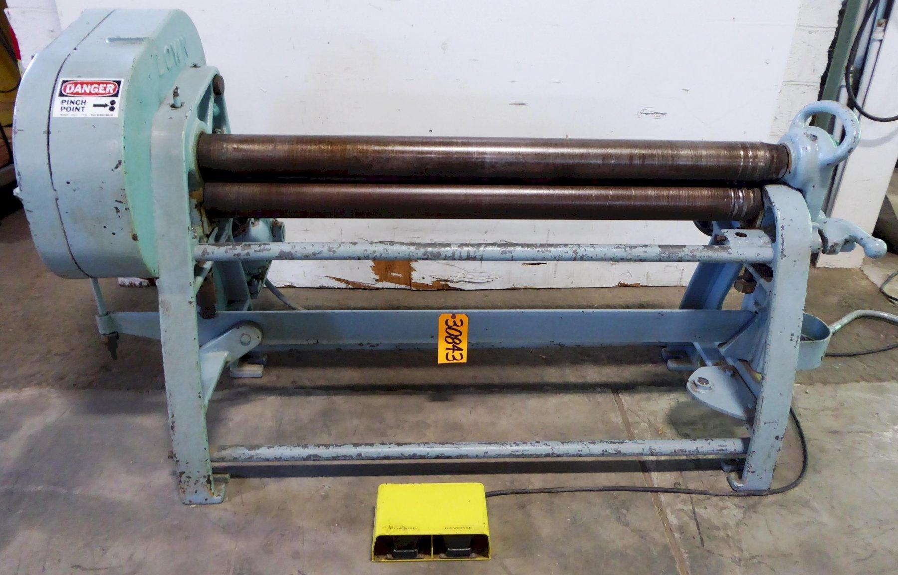 6′ x 16 Ga. LOWN No. B-474, Pwr, 4″ Dia. Rolls, 2 HP, Clean