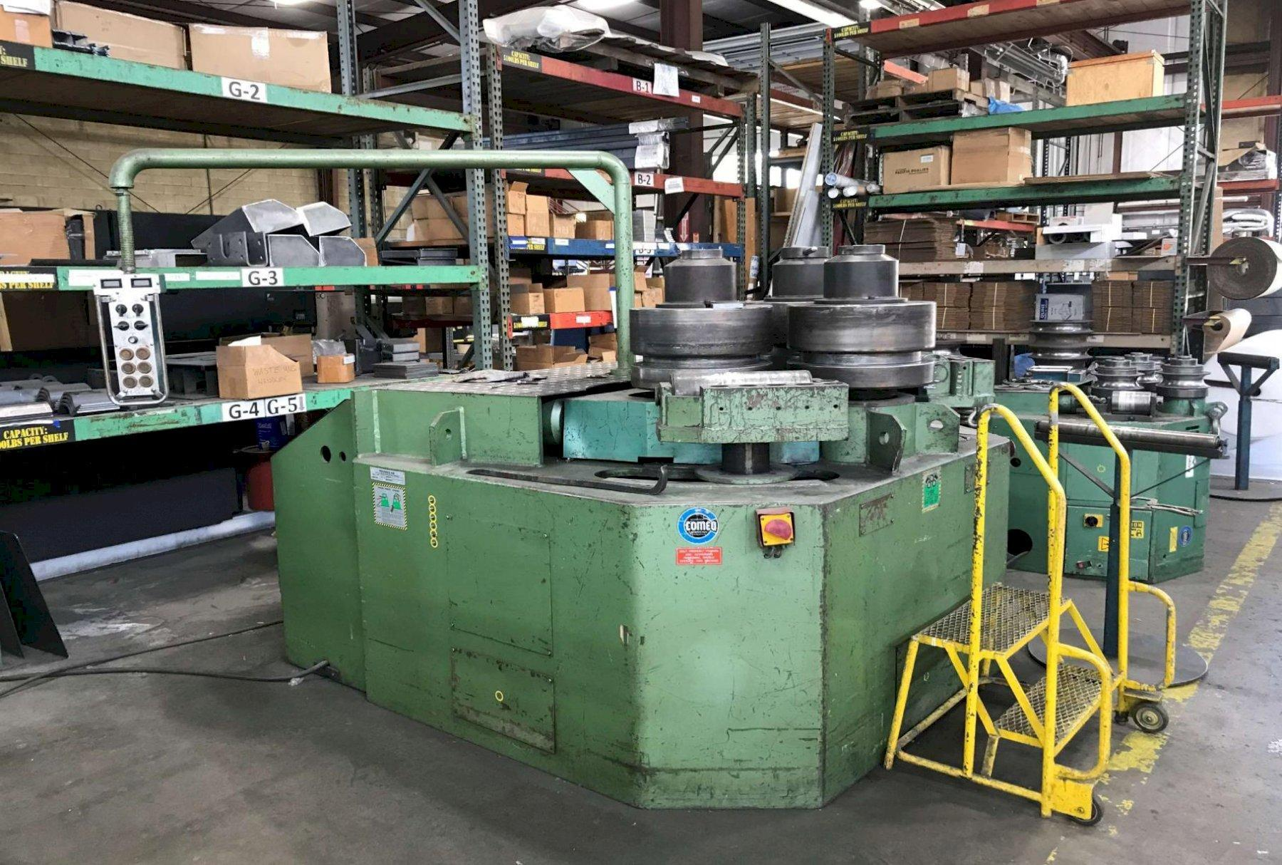 "ROUNDO HYDRAULIC ANGLE BENDING ROLL, MODEL R6, 6"" X 6"" X 5/8"", 1993, TOOLING"
