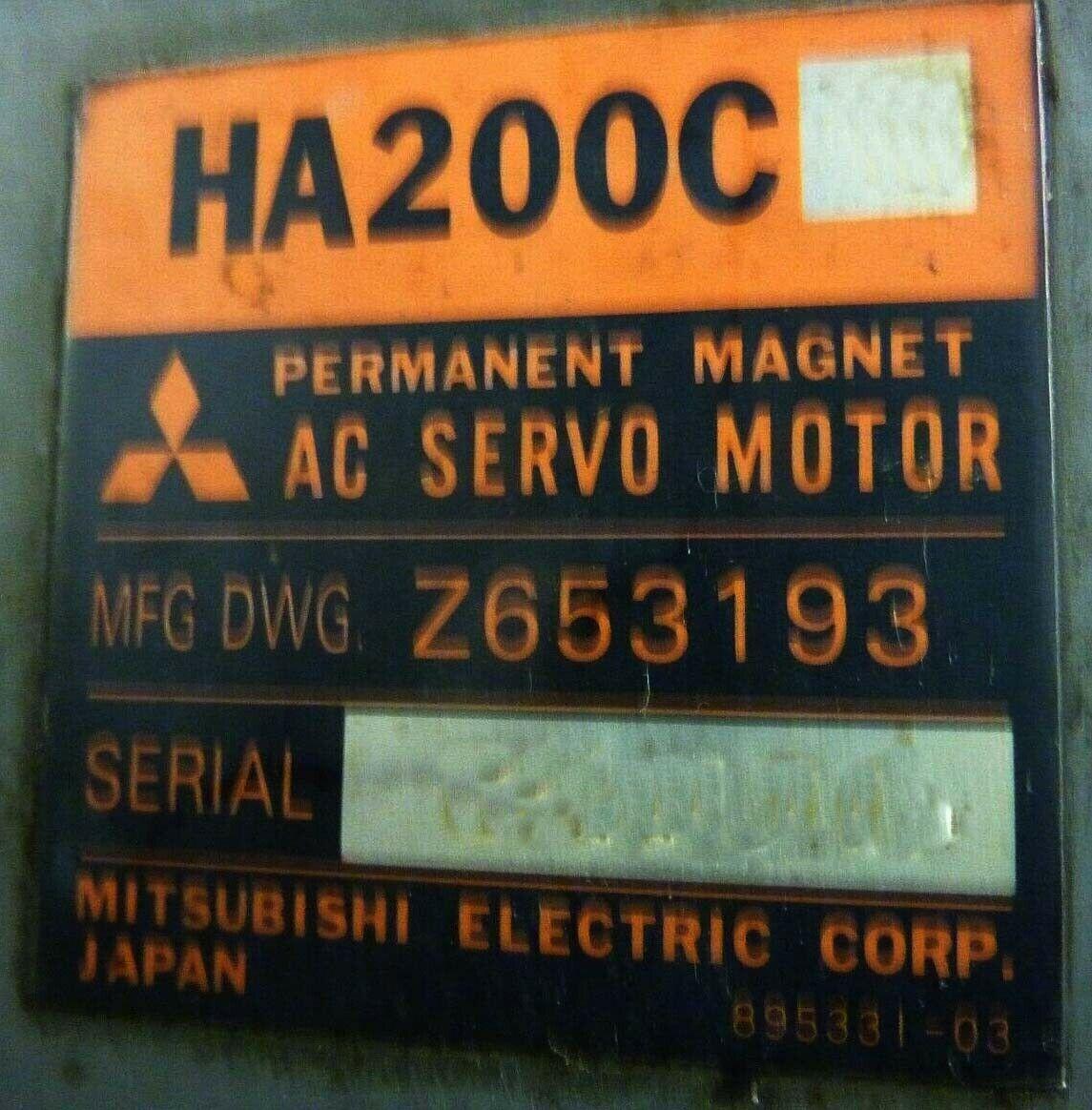 Mitsubishi Axis Motor Servo Motor HA200S Z653193