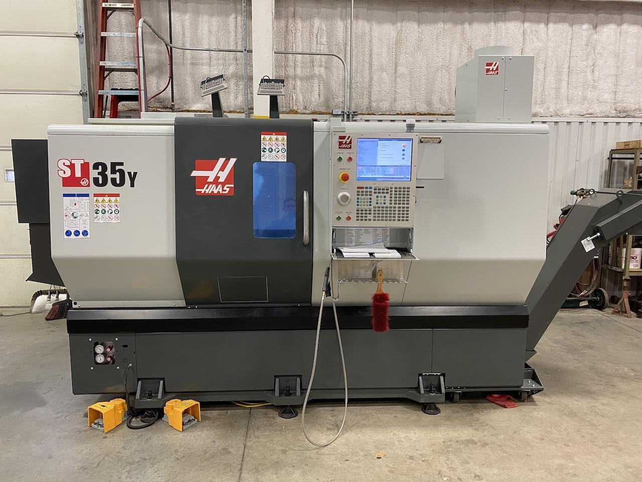 Haas ST35Y CNC Lathe, (Only 350 Hours), New 2019