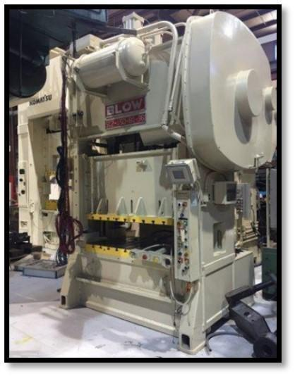 Blow SC2-150-60-36 Straight Side Press, Used
