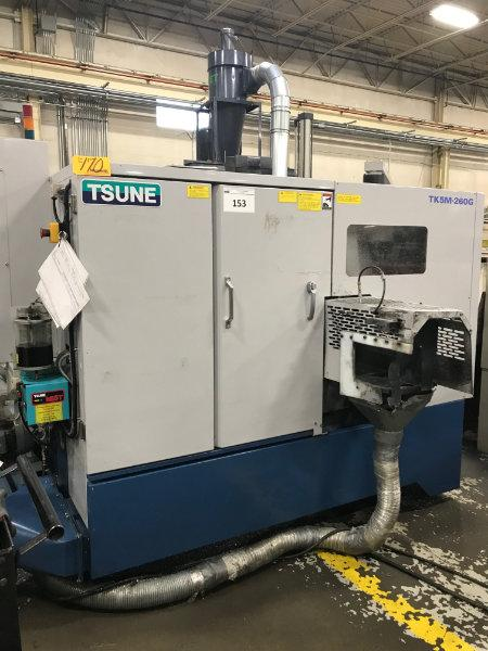 USED - TSUNE NON-FERROUS FULLY AUTOMATIC CIRCULAR SAWING SYSTEM, TK5M-260G, 2015  Stock No. 10564