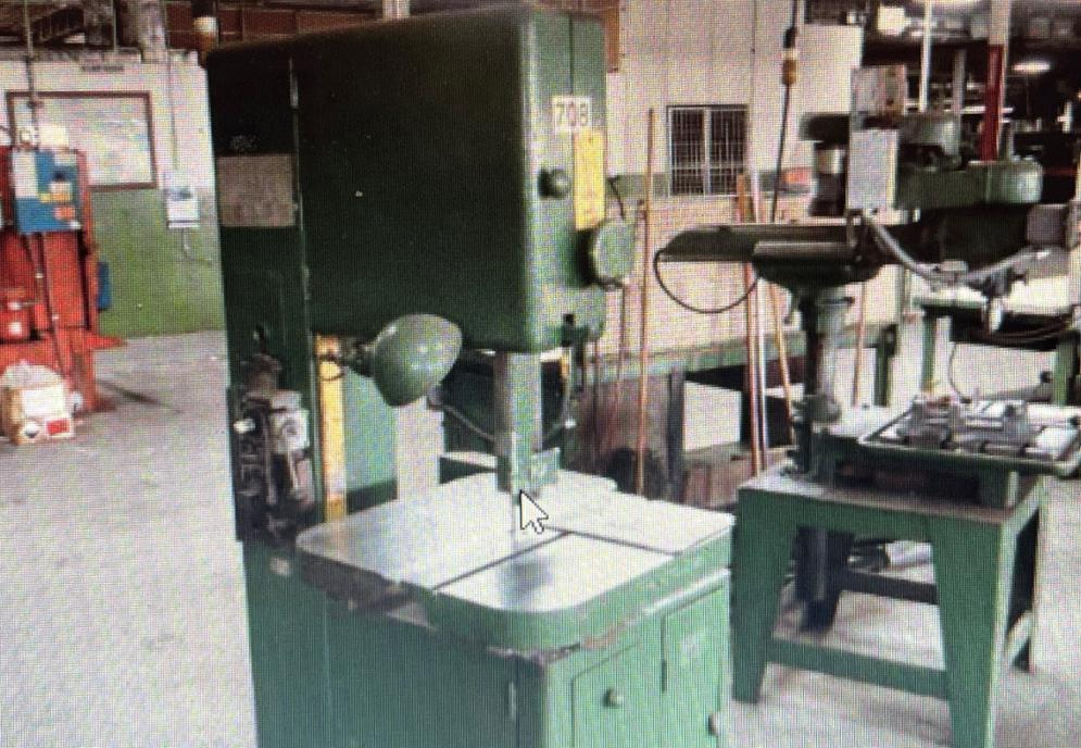 """1 - PREOWNED GROB 18"""" VERTICAL BANDSAW, MODEL #: NS18, S/N: 9301"""