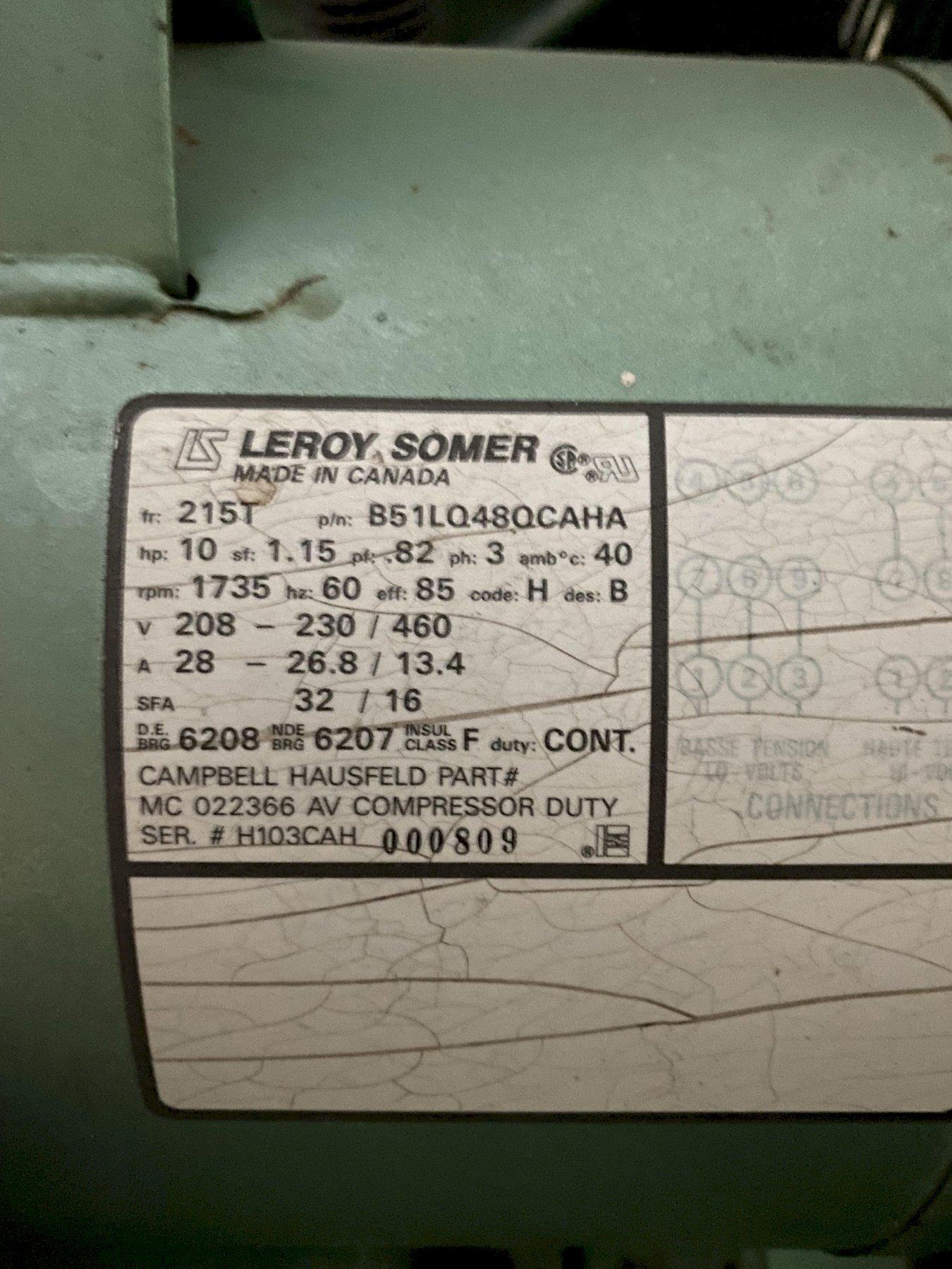 1 - PREOWNED SPEEDAIRE AIR COMPRESSOR, MODEL #: 5Z402A