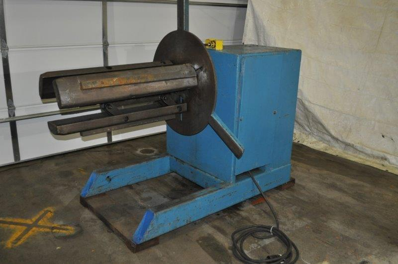 6000 lb American Steel Line Motorized Uncoiler
