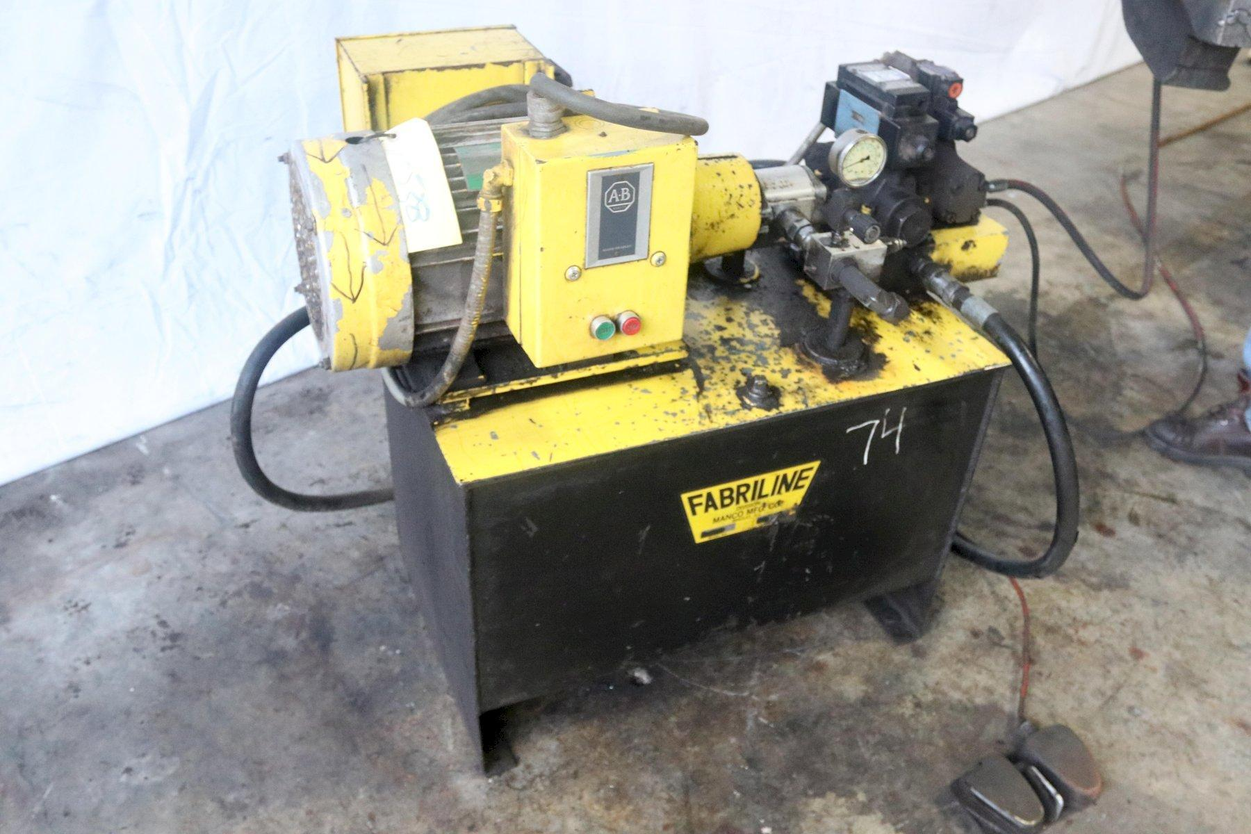 10 HP FRANKLIN WHITNEY 3,000 PSI  HYDRAULIC POWER UNIT: STOCK 13100