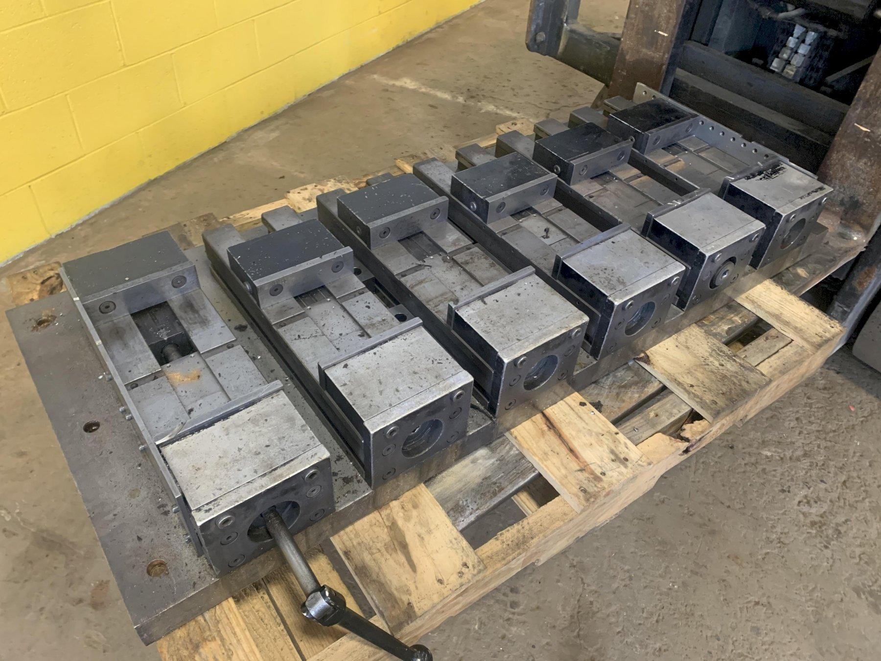 "(6) 7"" MACHINE VISES WITH 10"" OPENINGS: STOCK #13179"