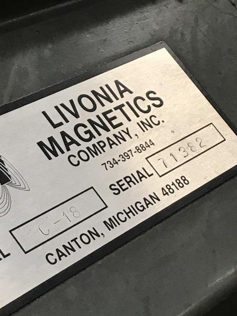"16"" x 148"" LIVONIA MAGNETIC  SCRAP CONVEYOR"
