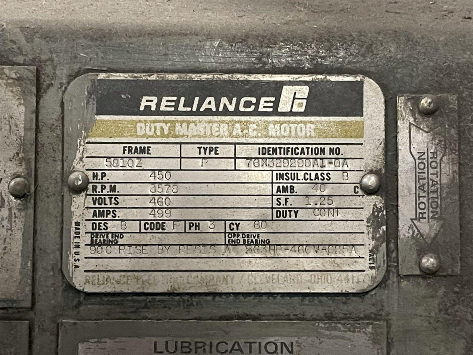 450 HP INGERSOLL RAND CENTAC CENTRIFUGAL AIR COMPRESSOR. STOCK # 0526021