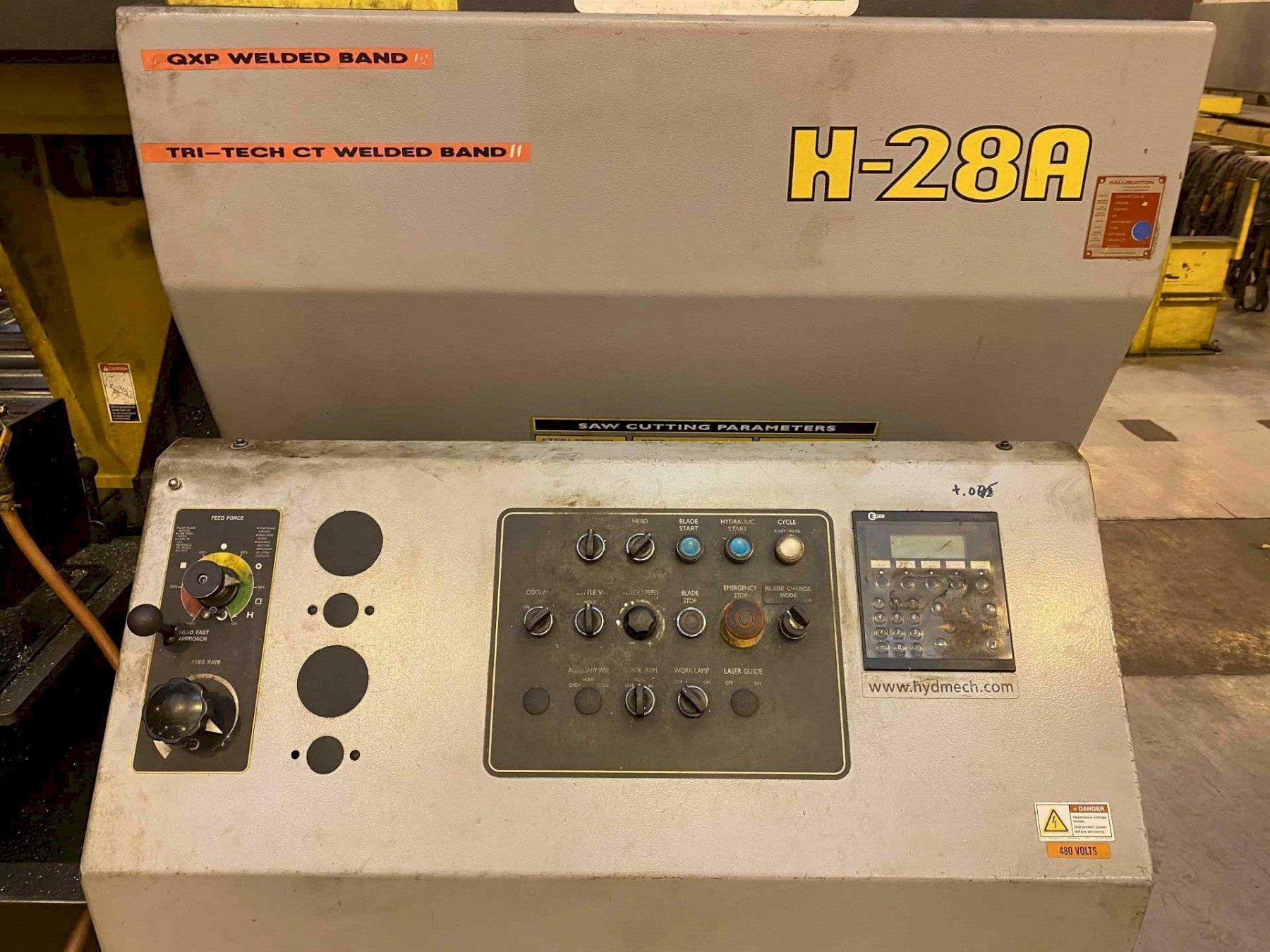 "28"" x 28"" HYD-MECH H-28A AUTOMATIC HORIZONTAL BAND SAW"